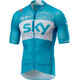 Castelli Team Sky Climber's 2.0 SS Jersey Full Zip Men sky blue